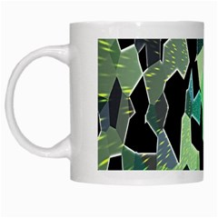 Wallpaper Background With Lighted Pattern White Mugs by Nexatart
