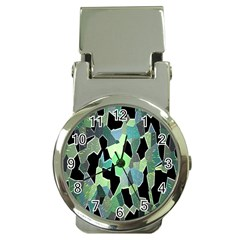Wallpaper Background With Lighted Pattern Money Clip Watches by Nexatart