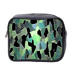 Wallpaper Background With Lighted Pattern Mini Toiletries Bag 2-Side