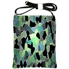 Wallpaper Background With Lighted Pattern Shoulder Sling Bags by Nexatart
