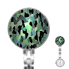Wallpaper Background With Lighted Pattern Stainless Steel Nurses Watch