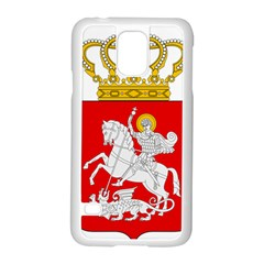 Lesser Coat of Arms of Georgia Samsung Galaxy S5 Case (White) by abbeyz71