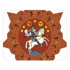 Coat Of Arms Of The Democratic Republic Of Georgia (1918 1921, 1990 2004) Double Sided Flano Blanket (large)  by abbeyz71