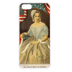 Betsy Ross Author Of The First American Flag And Seal Patriotic Usa Vintage Portrait Apple Iphone 5 Seamless Case (white) by yoursparklingshop