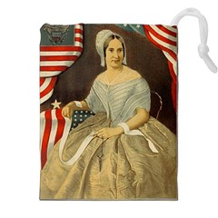 Betsy Ross Author Of The First American Flag And Seal Patriotic Usa Vintage Portrait Drawstring Pouches (xxl) by yoursparklingshop