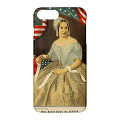 Betsy Ross Author Of The First American Flag And Seal Patriotic Usa Vintage Portrait Apple Iphone 7 Plus Hardshell Case by yoursparklingshop