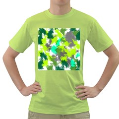 Abstract Watercolor Background Wallpaper Of Watercolor Splashes Green Hues Green T-Shirt