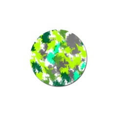 Abstract Watercolor Background Wallpaper Of Watercolor Splashes Green Hues Golf Ball Marker by Nexatart