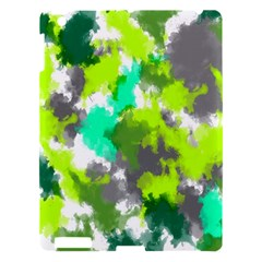 Abstract Watercolor Background Wallpaper Of Watercolor Splashes Green Hues Apple Ipad 3/4 Hardshell Case by Nexatart