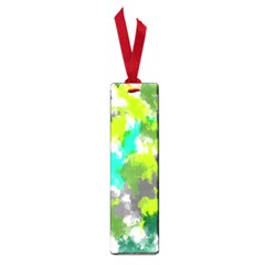 Abstract Watercolor Background Wallpaper Of Watercolor Splashes Green Hues Small Book Marks by Nexatart