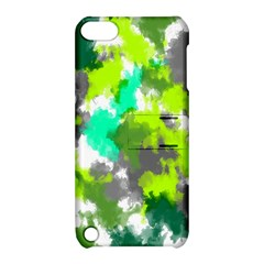 Abstract Watercolor Background Wallpaper Of Watercolor Splashes Green Hues Apple Ipod Touch 5 Hardshell Case With Stand by Nexatart
