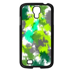 Abstract Watercolor Background Wallpaper Of Watercolor Splashes Green Hues Samsung Galaxy S4 I9500/ I9505 Case (black) by Nexatart