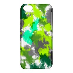 Abstract Watercolor Background Wallpaper Of Watercolor Splashes Green Hues Apple Iphone 5c Hardshell Case by Nexatart