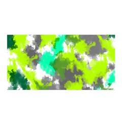 Abstract Watercolor Background Wallpaper Of Watercolor Splashes Green Hues Satin Wrap by Nexatart
