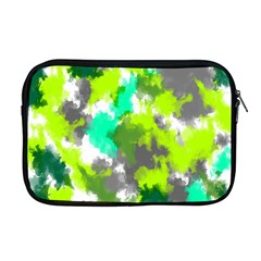 Abstract Watercolor Background Wallpaper Of Watercolor Splashes Green Hues Apple Macbook Pro 17  Zipper Case by Nexatart
