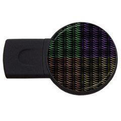 Multicolor Pattern Digital Computer Graphic Usb Flash Drive Round (2 Gb) by Nexatart