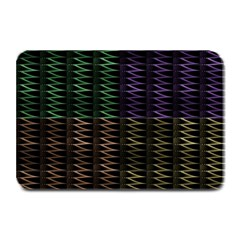 Multicolor Pattern Digital Computer Graphic Plate Mats by Nexatart
