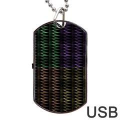 Multicolor Pattern Digital Computer Graphic Dog Tag Usb Flash (two Sides) by Nexatart