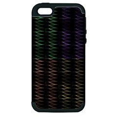 Multicolor Pattern Digital Computer Graphic Apple Iphone 5 Hardshell Case (pc+silicone) by Nexatart