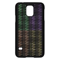 Multicolor Pattern Digital Computer Graphic Samsung Galaxy S5 Case (black) by Nexatart