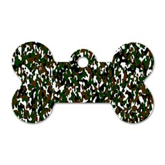 Camouflaged Seamless Pattern Abstract Dog Tag Bone (one Side) by Nexatart