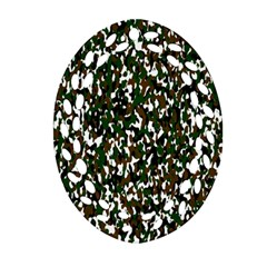 Camouflaged Seamless Pattern Abstract Oval Filigree Ornament (two Sides) by Nexatart