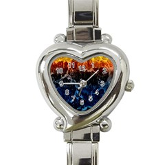 Abstract Background Heart Italian Charm Watch by Nexatart