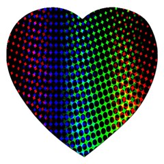 Digitally Created Halftone Dots Abstract Background Design Jigsaw Puzzle (heart) by Nexatart