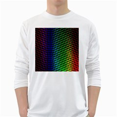 Digitally Created Halftone Dots Abstract Background Design White Long Sleeve T Shirts by Nexatart