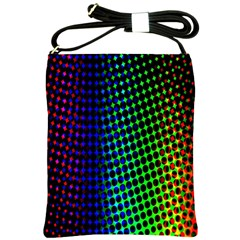 Digitally Created Halftone Dots Abstract Background Design Shoulder Sling Bags by Nexatart