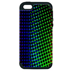 Digitally Created Halftone Dots Abstract Background Design Apple Iphone 5 Hardshell Case (pc+silicone) by Nexatart