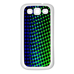 Digitally Created Halftone Dots Abstract Background Design Samsung Galaxy S3 Back Case (white) by Nexatart