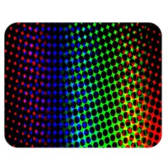 Digitally Created Halftone Dots Abstract Background Design Double Sided Flano Blanket (medium)  by Nexatart