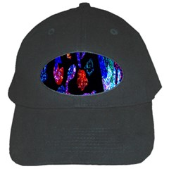 Grunge Abstract In Black Grunge Effect Layered Images Of Texture And Pattern In Pink Black Blue Red Black Cap by Nexatart
