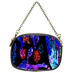 Grunge Abstract In Black Grunge Effect Layered Images Of Texture And Pattern In Pink Black Blue Red Chain Purses (two Sides)  by Nexatart