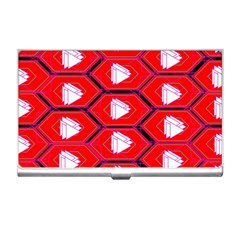 Red Bee Hive Background Business Card Holders