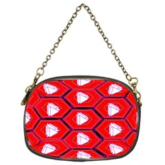 Red Bee Hive Background Chain Purses (two Sides)  by Nexatart