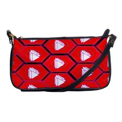 Red Bee Hive Background Shoulder Clutch Bags by Nexatart