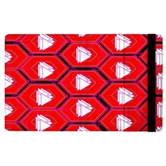 Red Bee Hive Background Apple Ipad 3/4 Flip Case by Nexatart