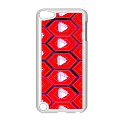 Red Bee Hive Background Apple Ipod Touch 5 Case (white) by Nexatart