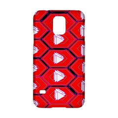 Red Bee Hive Background Samsung Galaxy S5 Hardshell Case  by Nexatart