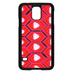 Red Bee Hive Background Samsung Galaxy S5 Case (black) by Nexatart