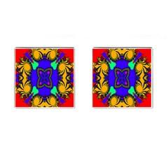 Digital Kaleidoscope Cufflinks (Square)