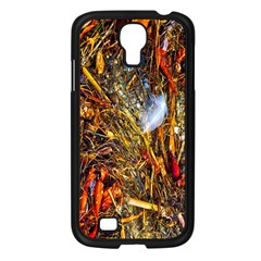 Abstract In Orange Sealife Background Abstract Of Ocean Beach Seaweed And Sand With A White Feather Samsung Galaxy S4 I9500/ I9505 Case (black) by Nexatart