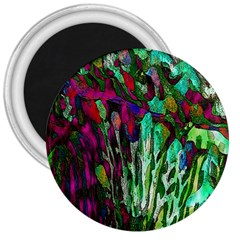 Bright Tropical Background Abstract Background That Has The Shape And Colors Of The Tropics 3  Magnets by Nexatart