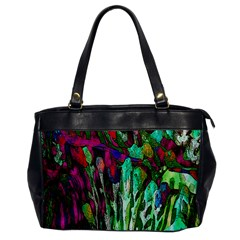 Bright Tropical Background Abstract Background That Has The Shape And Colors Of The Tropics Office Handbags by Nexatart