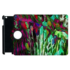 Bright Tropical Background Abstract Background That Has The Shape And Colors Of The Tropics Apple iPad 2 Flip 360 Case by Nexatart