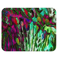 Bright Tropical Background Abstract Background That Has The Shape And Colors Of The Tropics Double Sided Flano Blanket (medium)  by Nexatart