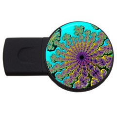 Beautiful Mandala Created With Fractal Forge USB Flash Drive Round (4 GB)