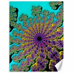 Beautiful Mandala Created With Fractal Forge Canvas 18  X 24   by Nexatart